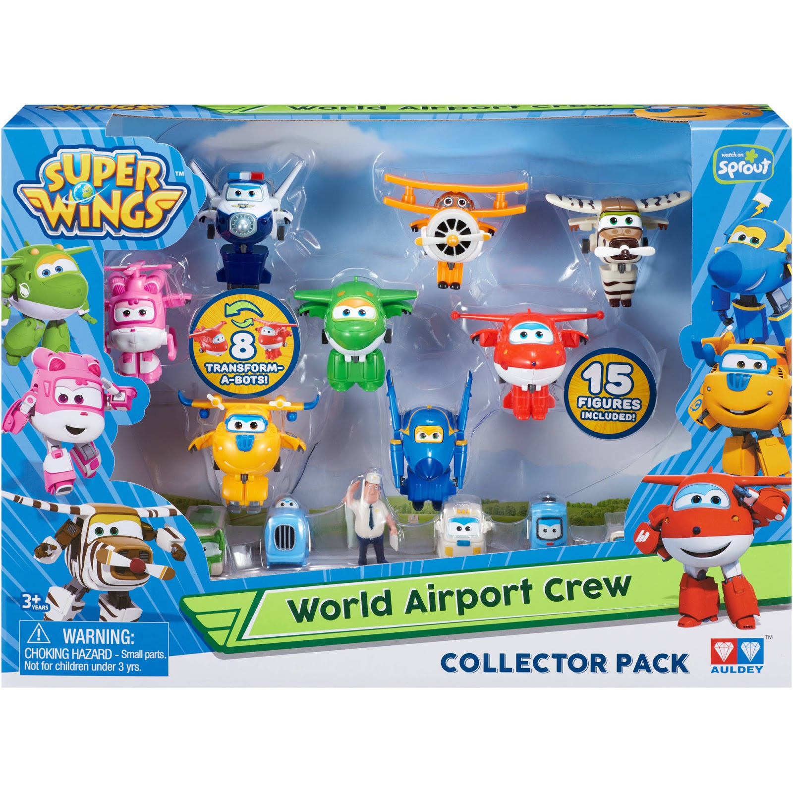 Super Wings World Airport Flight Crew Figure - Coloring Page