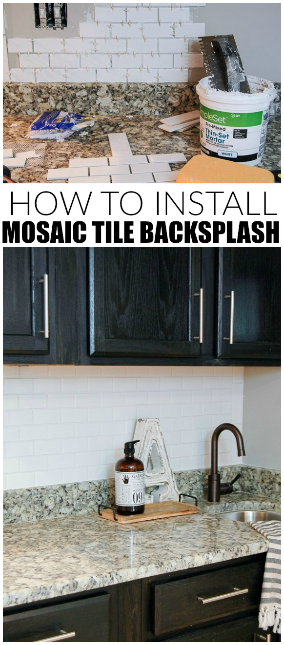 How to install mosaic tile backsplash