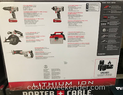 Costco 1303852 - Porter Cable 5-Tool Combo Kit: great for any garage or workshop