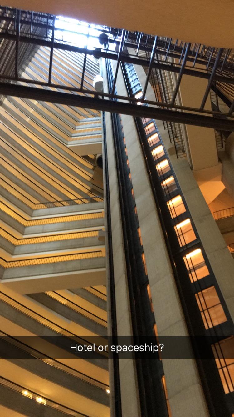 the inside of the Atlanta Marriott Marquis