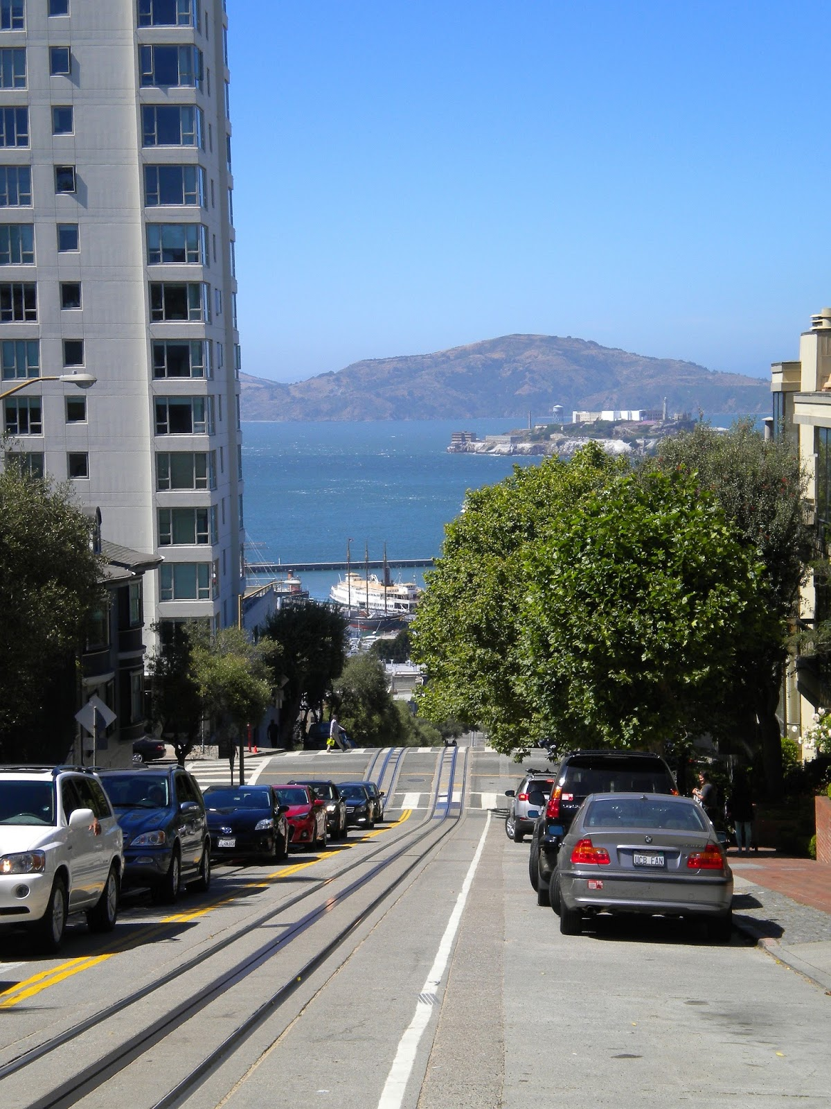 san francisco matkailu matkajuttu mallaspulla jyrkkä katu alcatraz