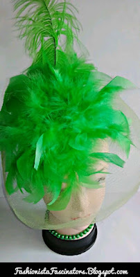 Green wedding fascinators in Kenya