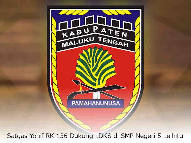 Satgas Yonif RK 136 Dukung LDKS di SMP Negeri 5 Leihitu