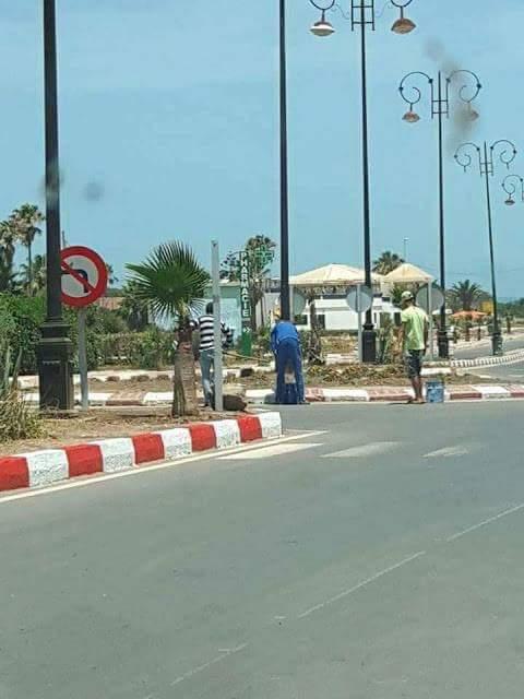 عمالة  إقليم برشيد تشرف على تأهيل سيدي رحال الشاطئ