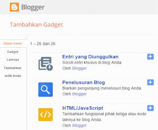 cara menambahkan gadjet html diblog