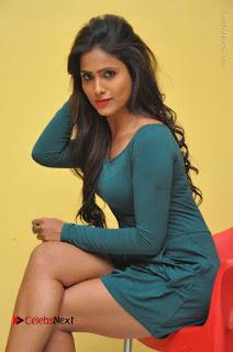 Telugu Actress Prasanthi Stills in Green Short Dress at Swachh Hyderabad Cricket Press Meet  0066.JPG
