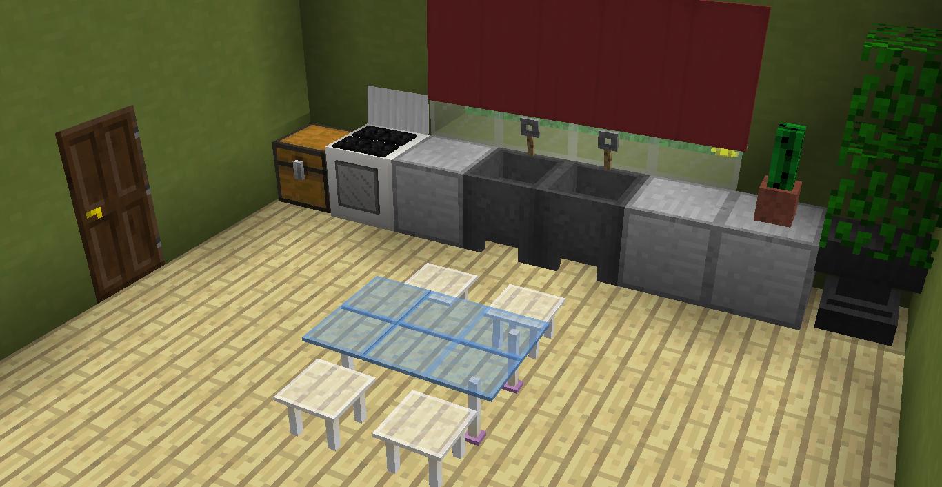 Móveis para sua cozinha  Two Command 19  Minecraft Sem Limites -> Como Fazer Pia De Banheiro No Minecraft