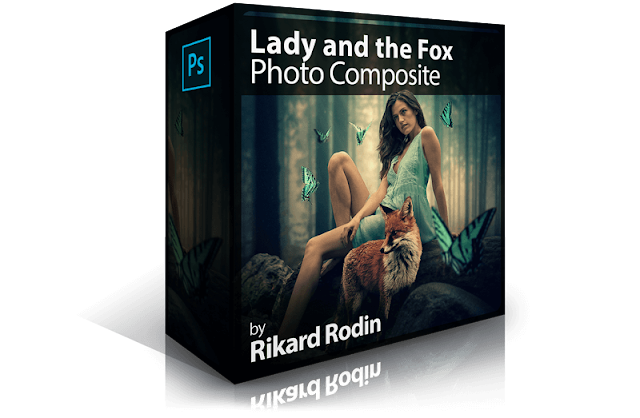 Lady and the Fox Photo Composite