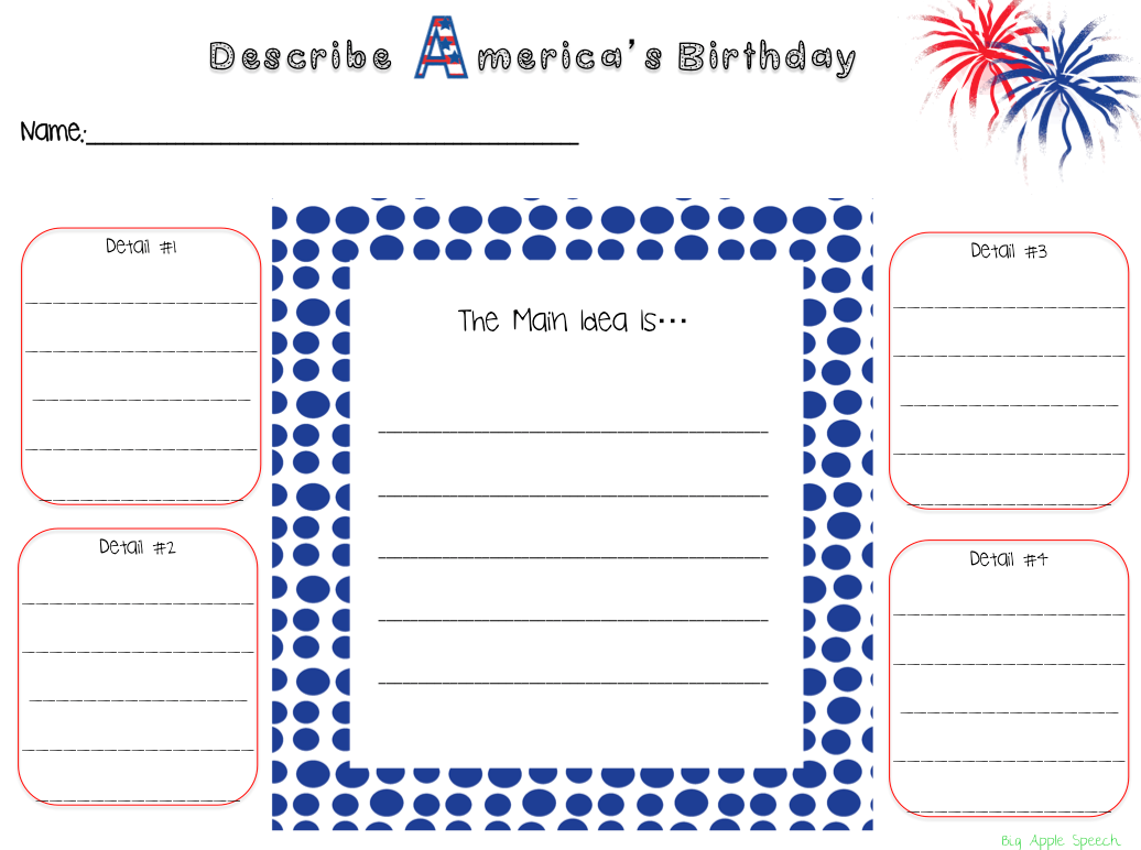 Big Apple Speech Summer And 4th Of July Speech Amp Language Mega Pack On Sale 50 Off Until July 4th