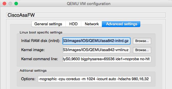 Configuring GNS3 and QEMU on Mac OSX Yosemite    El rincón de Yishai
