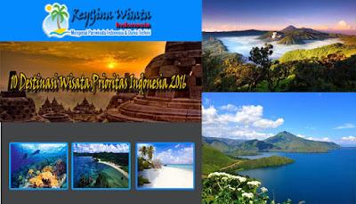 10 Destinasi Wisata Prioritas Indonesia 2016
