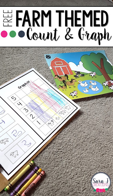 Free farm themed introduction to graphing.  Perfect for preschool and kindergarten!