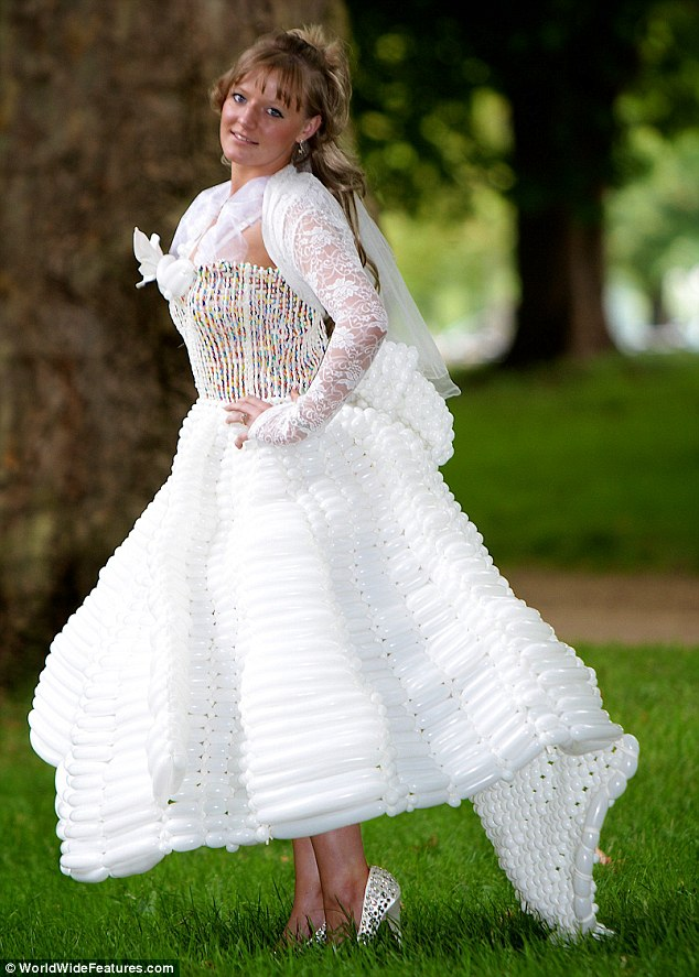 White Balloon Wedding Dresses Designs Ideas