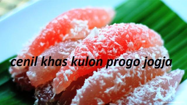 Cenil Makanan Khas Kulon Progo Yogyakarta Cara Membuat Cenil