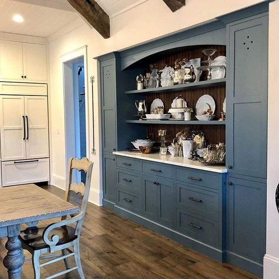 sherwin williams labradorite painted built-ins
