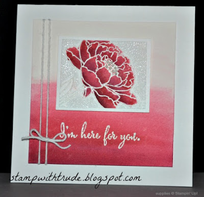 You've Got this, stampwithtrude.blogspot.com, Trude Thoman, Stampin' Up!, sympathy card, encouragement card, watercolor, Tuesday Tutorial