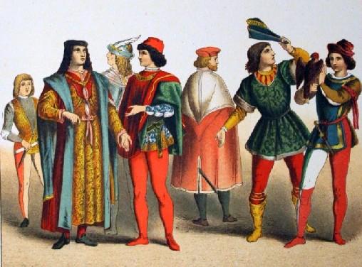 l'abbigliamento medievale maschile