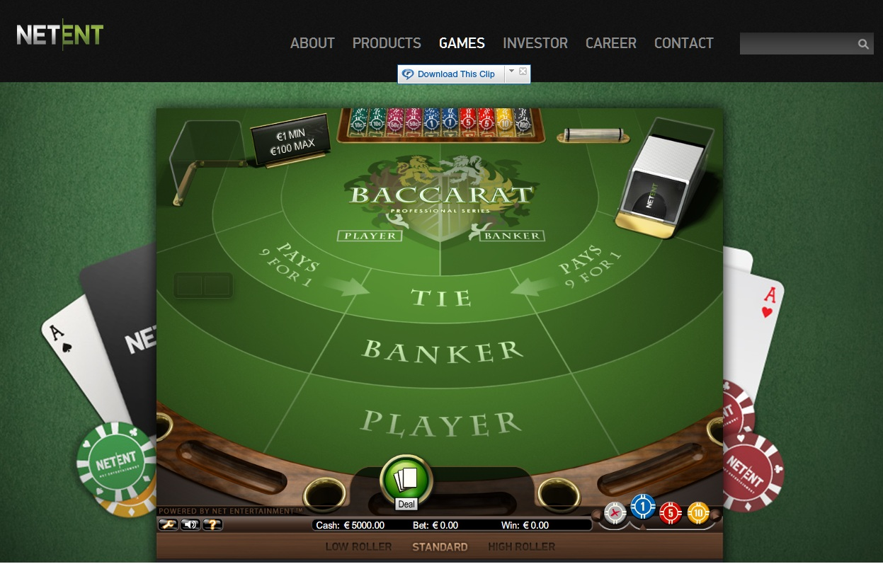 Card Game Baccarat