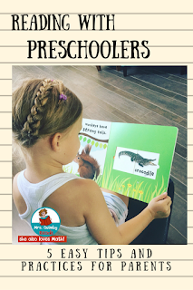 MrsQuimbyReads, Reading with Preschoolers, Teaching Resources