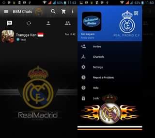 BBM Mod Real Madrid APK v3.0.0.18 Terbaru (Logo)