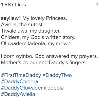 Aww! See Seyi Law's daughter, his first child after 5 yrs of marriage