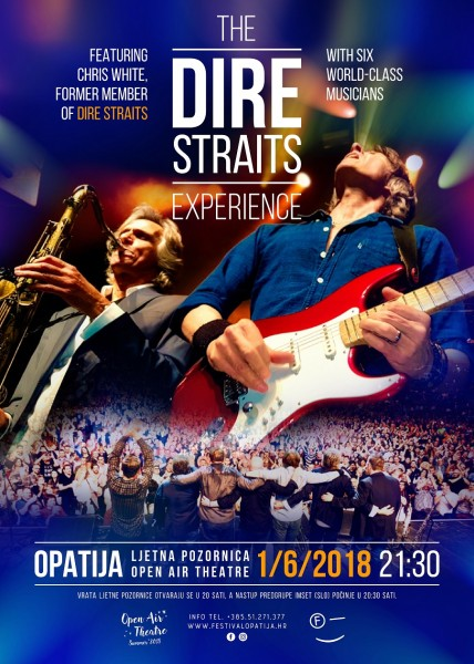 The Dire Straits Experience 01.lipnja 2018 na ljetnoj pozornici u Opatiji