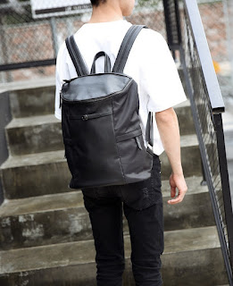 Tas Ransel Pria Korea Waterproof Tube Backpack Murah Juli 2016 Model Terbaru