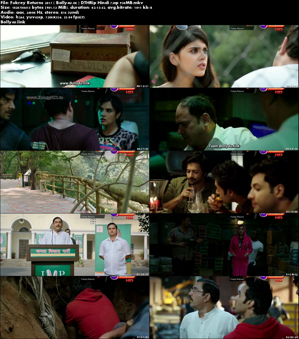 Fukrey Returns 2017 DTHRip 400Mb Full Hindi Movie Download 480p