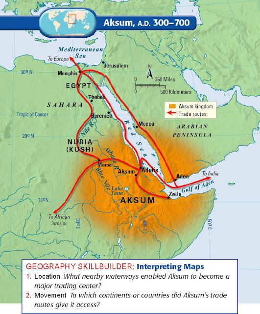 Resultado de imagen de Aksum reino mapa