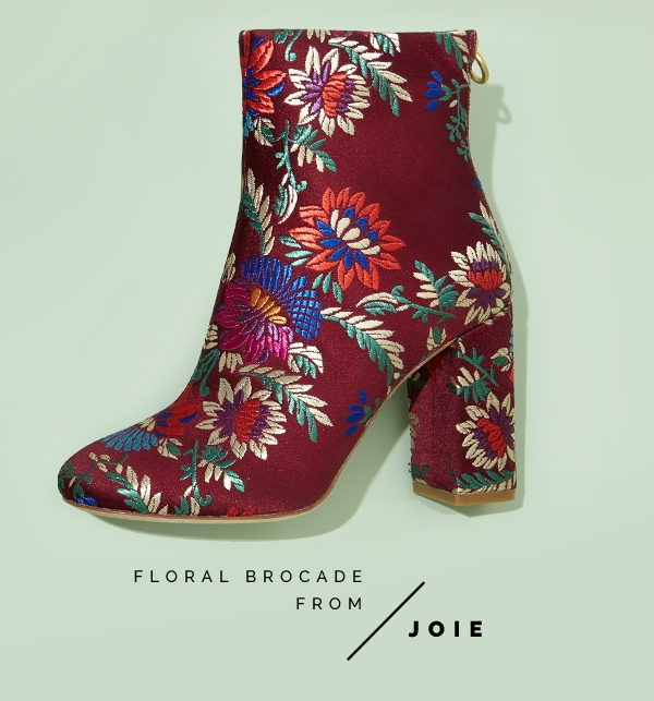 Saleema Brocade Leather Ankle Boots with Embroidery