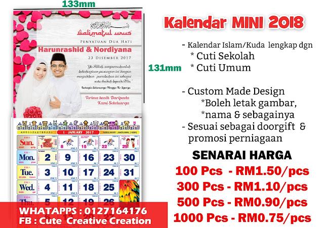 jual kalendar custom made