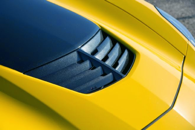 2015 Corvette C7 Z06 hood vent functions flawlessly as a