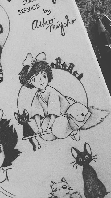Kiki's delivery service tattoo designs, Kiki's flying tattoo design