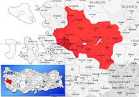 Şehzadeler ilçesinin nerede olduğunu gösteren harita