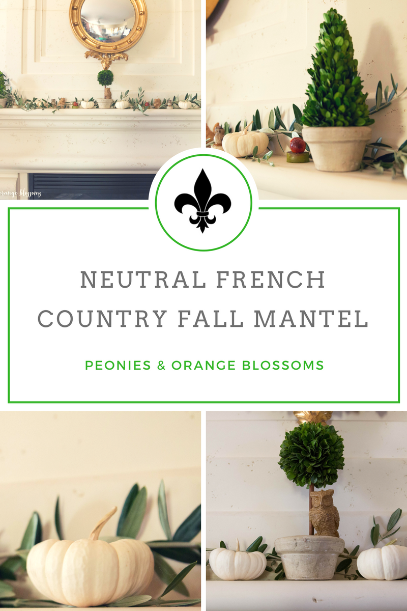 Neutral French Country Fall Mantle