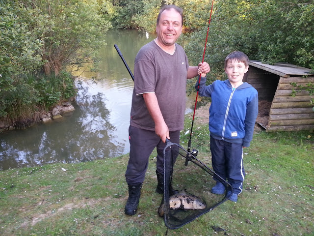 Father and Son Caught Fish