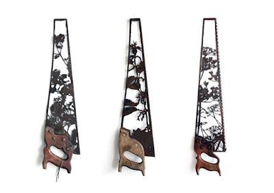Obras de arte con desechos metálicos reciclados