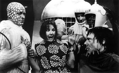 Verity Lambert and The Planetarians on the set of Doctor Who: Mission To The Unknown