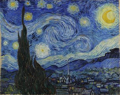 """Vincent van Gogh (1853-1890), """"A Noite Estrelada"""" (1889), pintura do acervo do MoMA em Nova York. (Publicado originalmente no grupo da Suno Research no Facebook em 28 de março de 2018.)"""
