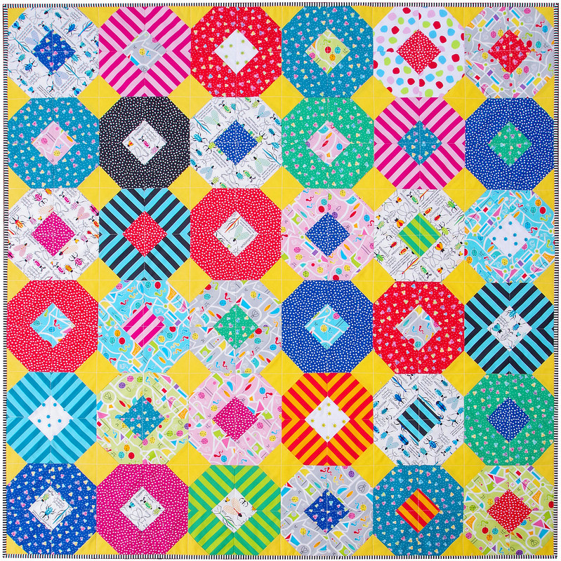 Bug City Kanas Dugout Quilt - colorful kids quilt | Templates and Tutorial available | © Red Pepper Quilts 2018