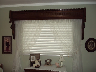 architectural piece from church, window cover, bedroom covering