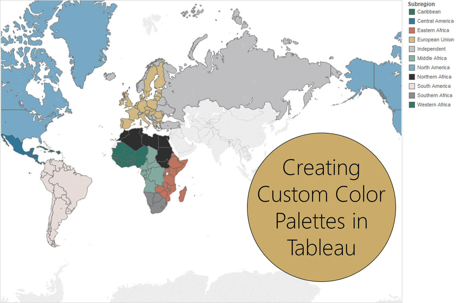 Custom Color Palettes in Tableau
