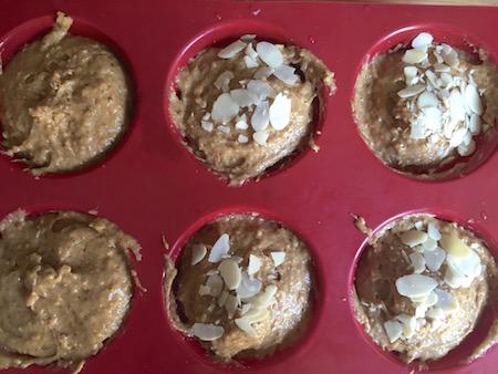 muffin au chocolat, muffin aux amandes, muffin à la fraise maison