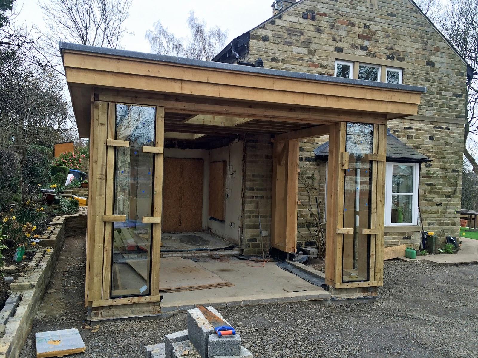 Final stages of fixed glazing in a new oak framed sunroom \u2013 Reynaers CF77 bi fold doors being installed soon. & Marlin Windows: Reynaers CF77 bi fold doors