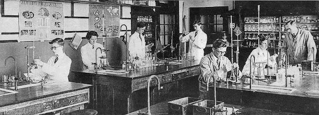 School Chemistry Laboratory 1950s