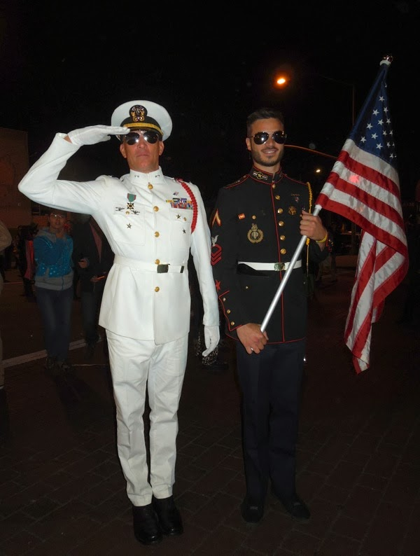 Soldier dress uniforms West Hollywood Halloween Carnaval