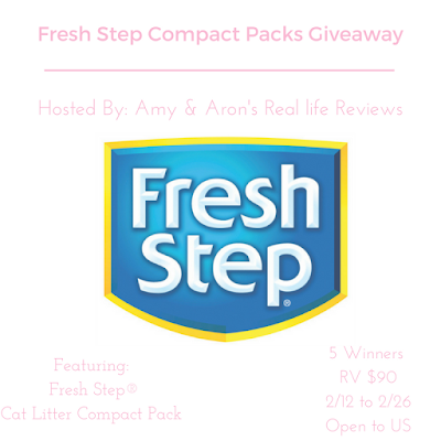 Enter the Fresh Step Compact Packs Giveaway. Ends 2/26