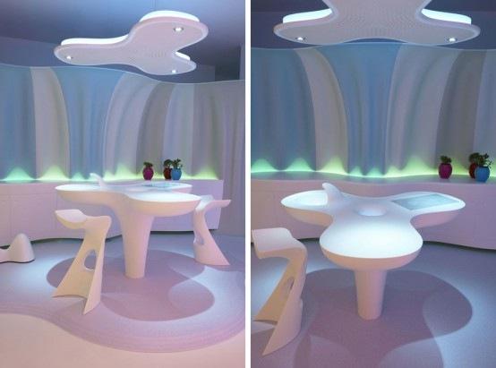 Dandesign Amp Build Glamorous Futuristic Interior Design