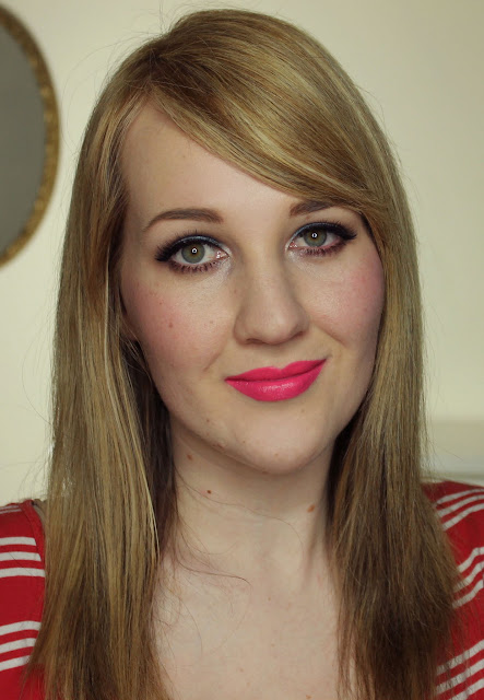 Maybelline Superstay Megawatt Lipstick - Burst of Coral Swatches & Review