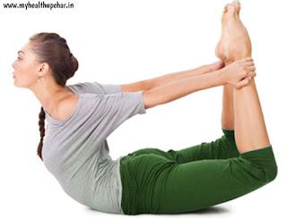 Motapa kam karney k liye prabhavi yog dhanurasana